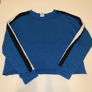 3/$9 • Tilly's Blue Cropped Crewneck Sweater Sz M